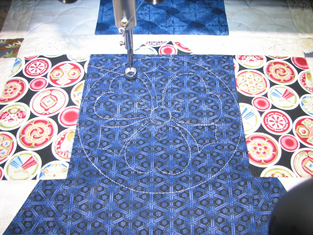 Marking a Quilt using Press 'n Seal (2/6)
