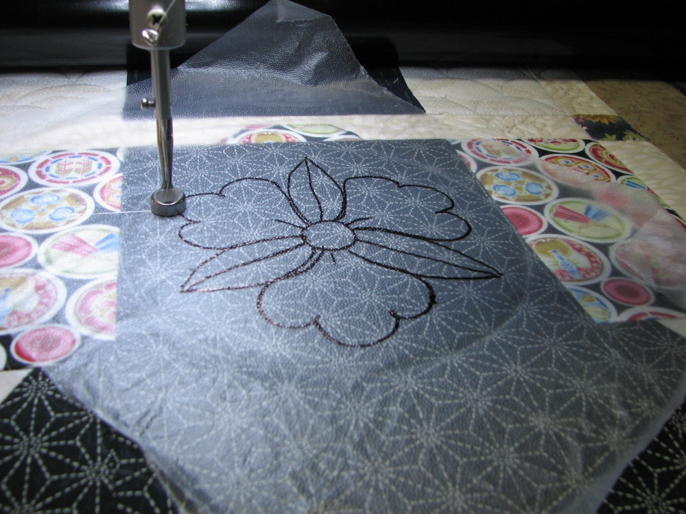 Marking a Quilt using Press 'n Seal (3/6)