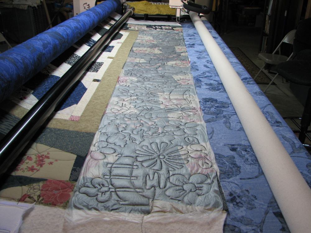 Marking a Quilt using Press 'n Seal (6/6)