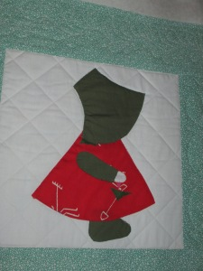 Mary's Sunbonnet Sue quilt 003