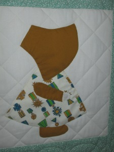 Mary's Sunbonnet Sue quilt 005