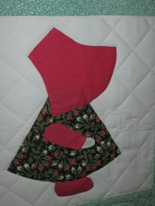Mary's Sunbonnet Sue quilt 006