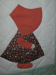 Mary's Sunbonnet Sue quilt 007