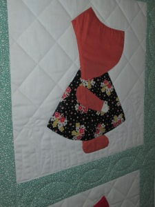 Mary's Sunbonnet Sue quilt 012