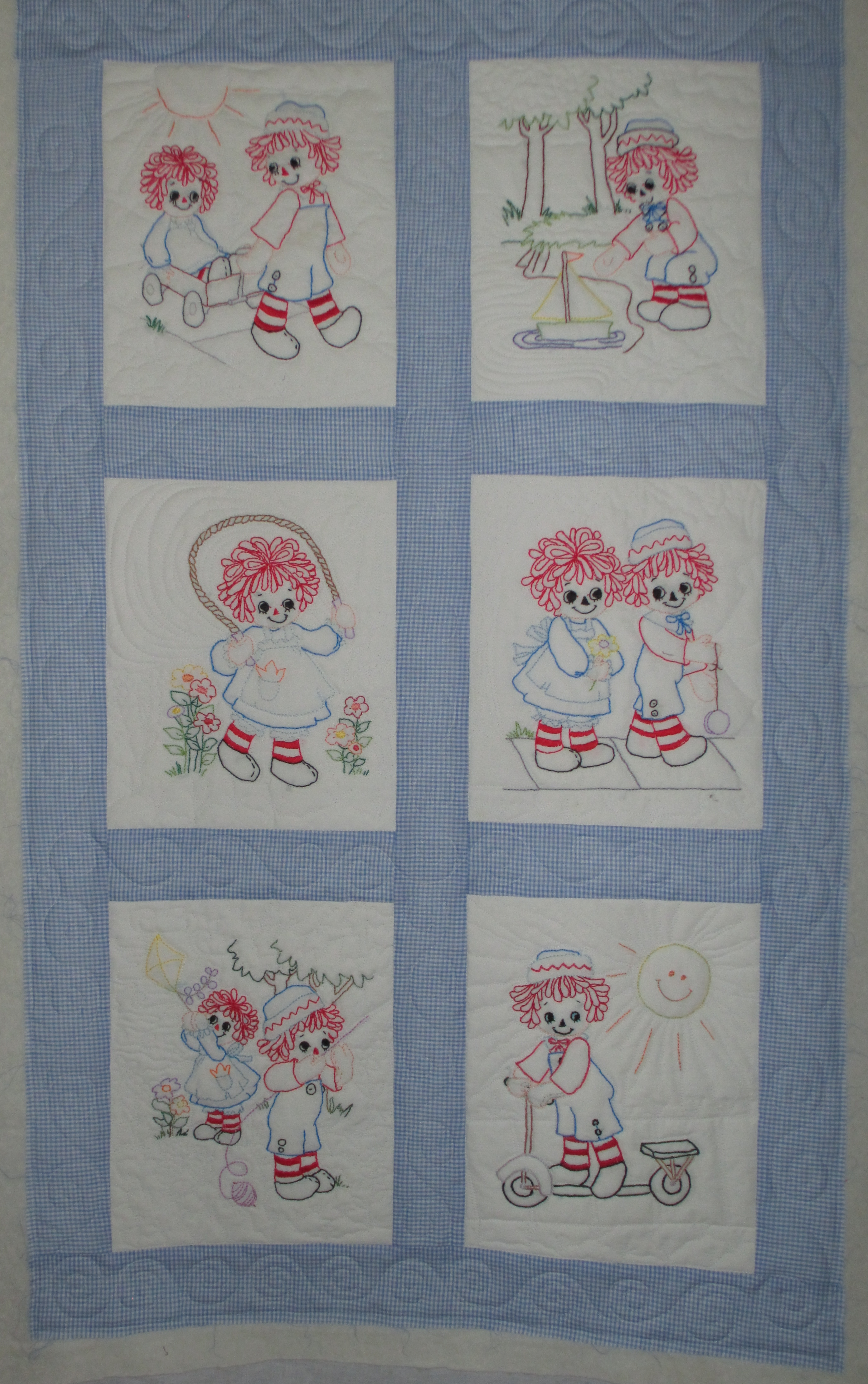 raggedy ann and andy cowtown quilts